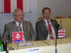 Prezident SR Ivan Gašparovič a primátor Prešova P. Hagyari počas návštevy hlavy štátu v Prešove pri príležitosti 760. výročia 1. písomnej zmienky o meste