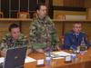 Zástupca veliteľa 2. MB Ivan Pach (uprostred)
