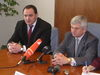 Minister hospodárstva Ľ. Jahnátek s  predsedom PSK Petrom Chudíkom